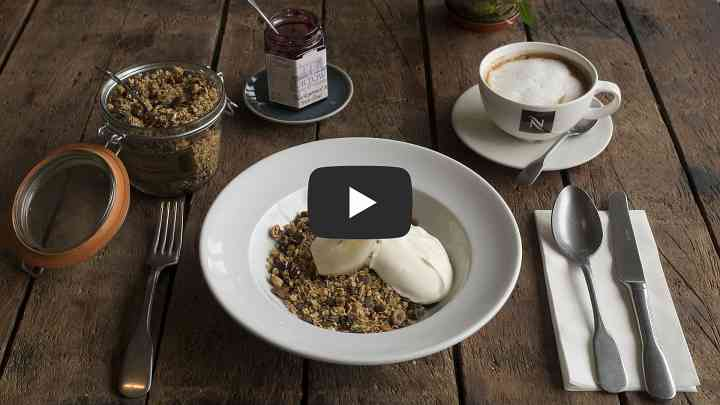 Homemade Granola, Organic Irish Yogurt, Poached Pear