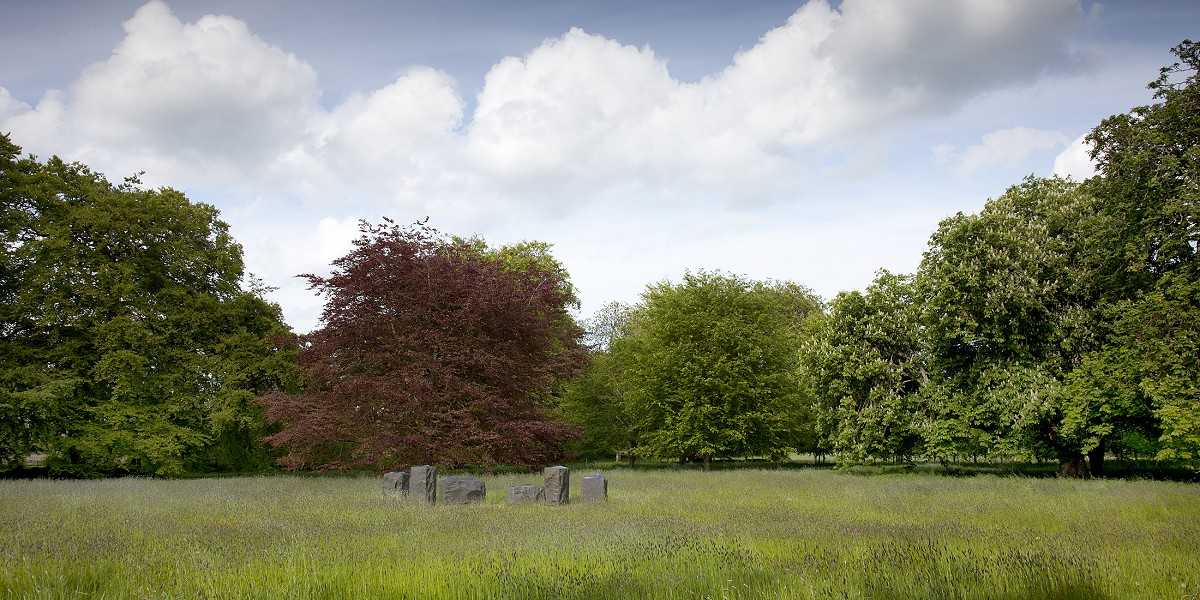 Sculpture meadows at Burtown House & Gardens