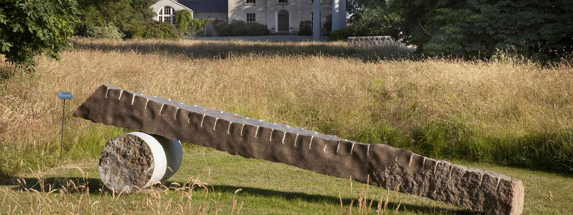 Sculptures and art in the gardens at Burtown
