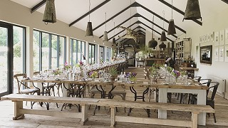 The Green Barn Restaurant Interior