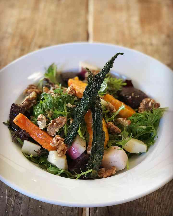 Seasonal walled garden salad