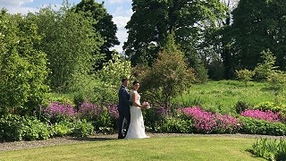 Bride & Groom getting married at Burtown