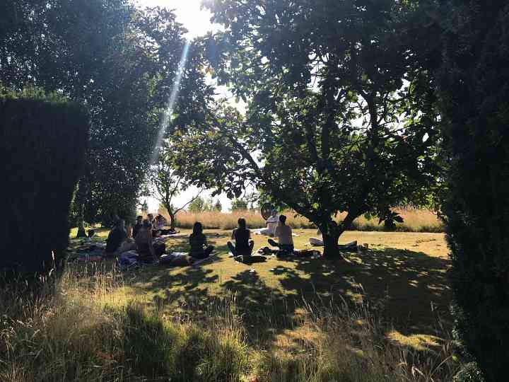 Yoga in the garden at Burtown House and Gardens